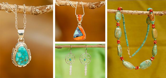 Inheemse handgemaakte indianen sieraden uit de V.S.