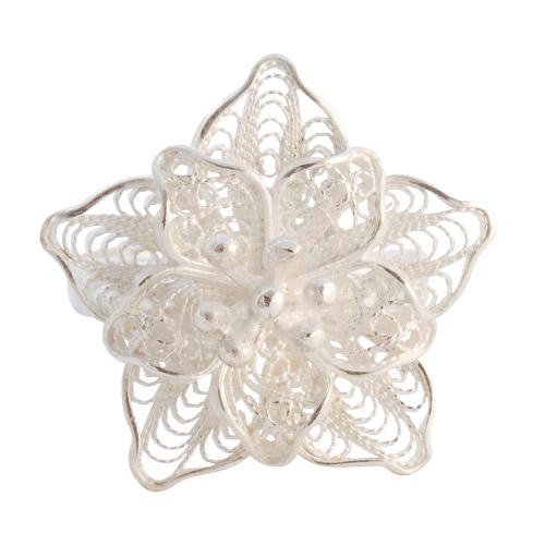 Zilveren Peruaanse ring van filigrain