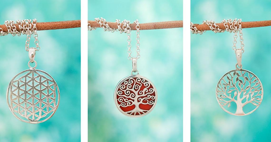 Draag de symboliek van het leven met deze spirituele zilveren hangers
