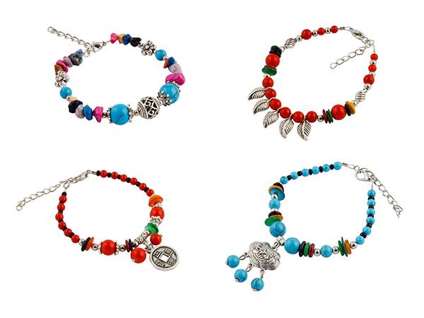 Tibetaanse kralen armbanden actie