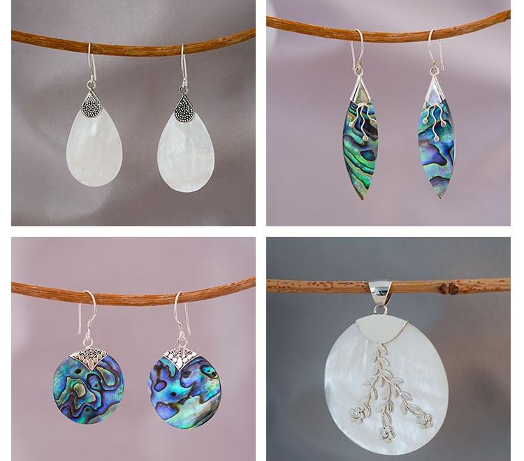 Mooie zilveren sieraden van de zee