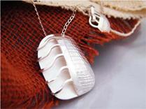 Zilveren ketting uit Peru