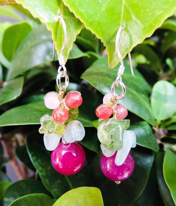 zilveren oorbellen met edelstenen